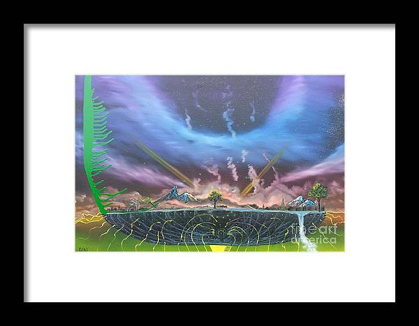 Island Framed Print featuring the painting Passage by Jody Poehl