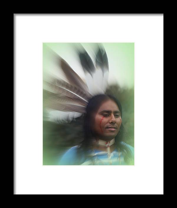 Native American Framed Print featuring the photograph Passing Through Time by Stephen Willmer