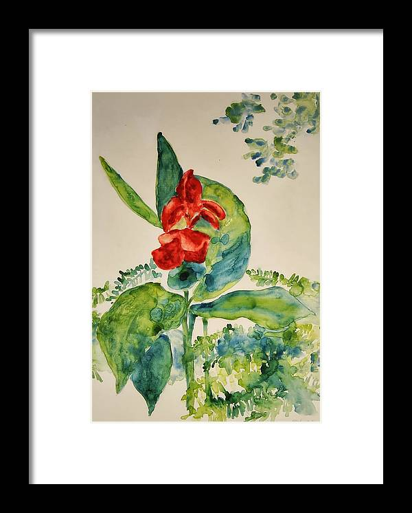 Framed Print featuring the painting Passion by Helen Hickey