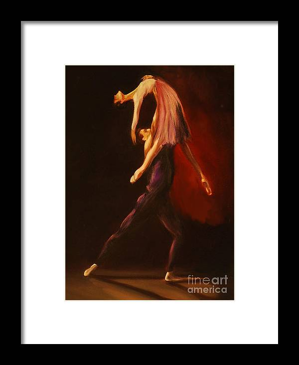 Ballet Framed Print featuring the painting Passion by Nancy Bradley