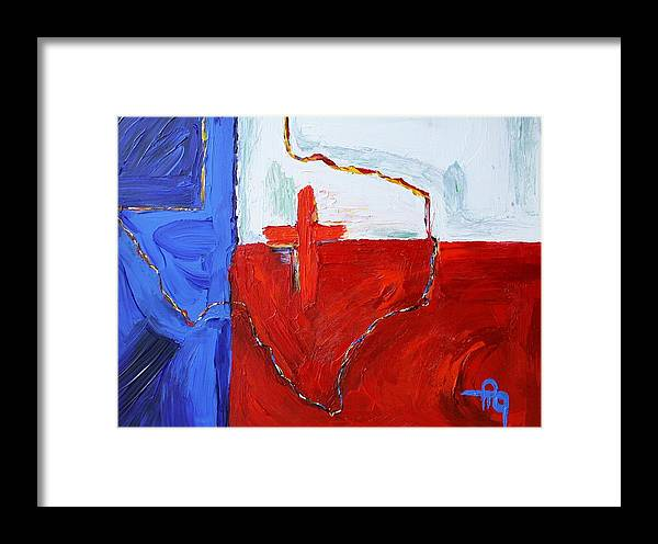 Texas Framed Print featuring the painting Passion Of Texas by Michael Greeley