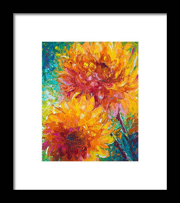 Dahlia Framed Print featuring the painting Passion by Talya Johnson
