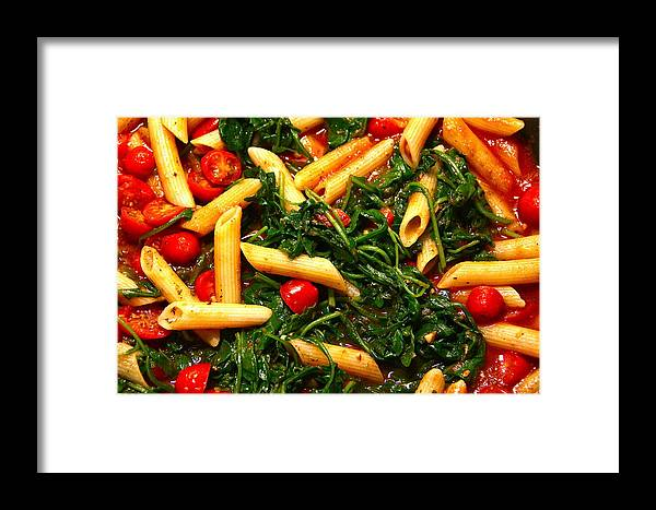 Food Framed Print featuring the photograph Pasta's Done by Graham Hayward