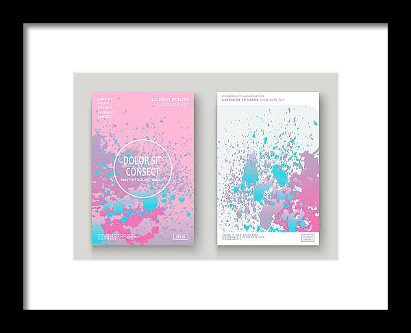 Pastel Pink Cyan Explosion Paint Splatter Artistic Cover Design  Fluid  Gradient Dust Splash Texture Background  Trendy Creative Template Vector  Cover