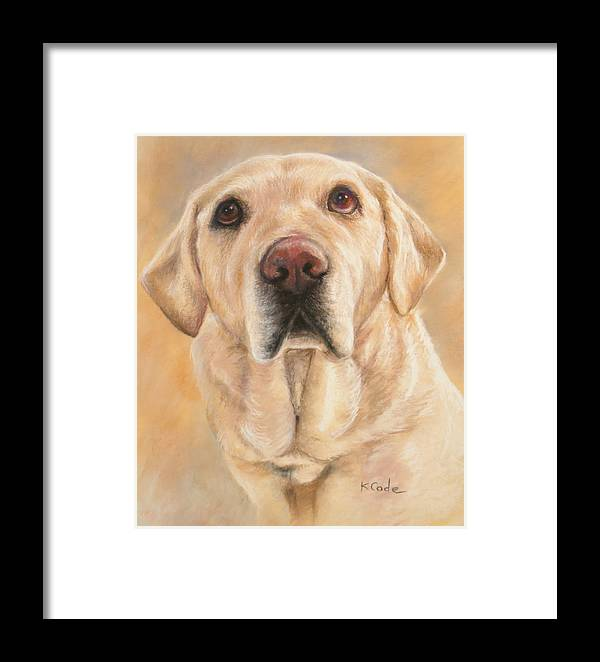 Pastel Painting Framed Print featuring the pastel Pastel Portrait by Karen Cade