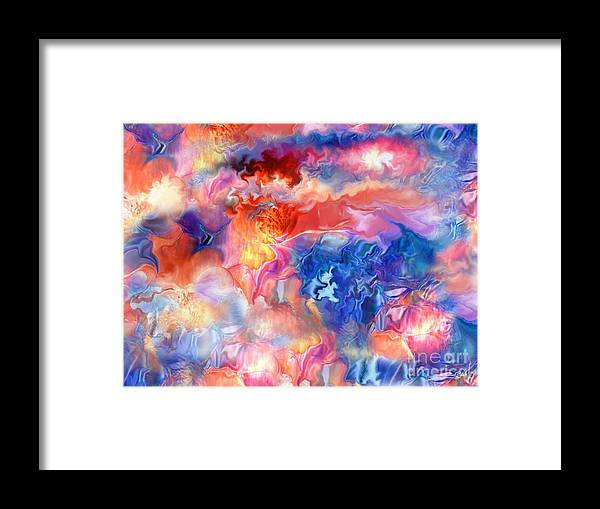 Spano Framed Print featuring the painting Pastel Storm By Spano by Michael Spano