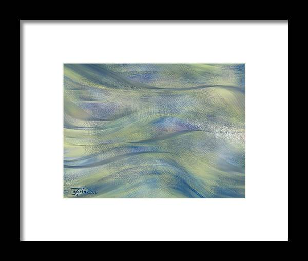 Blue Framed Print featuring the digital art Pastelina by Anita Duhon
