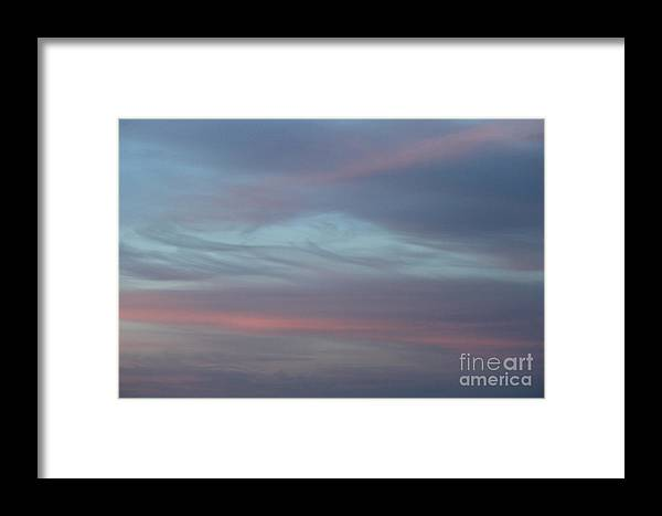 Sky Framed Print featuring the photograph Pastels In The Heavens by Jennifer E Doll