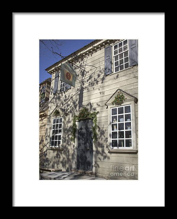 Colonial Framed Print featuring the photograph Pasteur And Galt Apothecary Williamsburg Virginia by Teresa Mucha