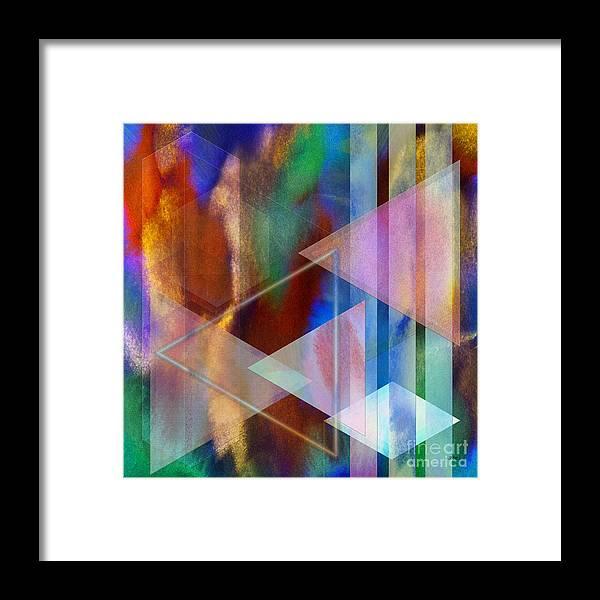 Pastoral Midnight Framed Print featuring the digital art Pastoral Midnight - Square Version by John Robert Beck