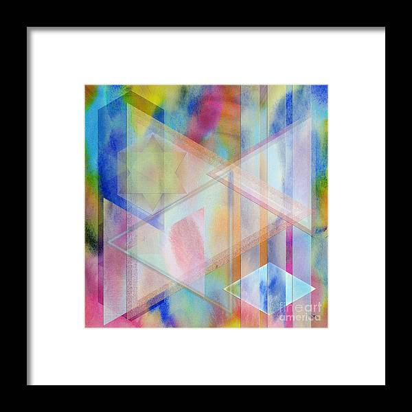 Pastoral Moment Framed Print featuring the digital art Pastoral Moment - Square Version by John Robert Beck