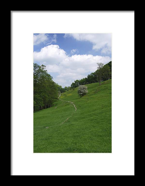 Derbyshire Framed Print featuring the photograph Pasture Land At Ashford-in-the-water by Rod Johnson