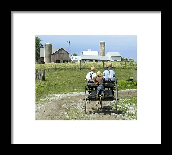 Amish Framed Print featuring the photograph Patched Together by Kelly Morrow