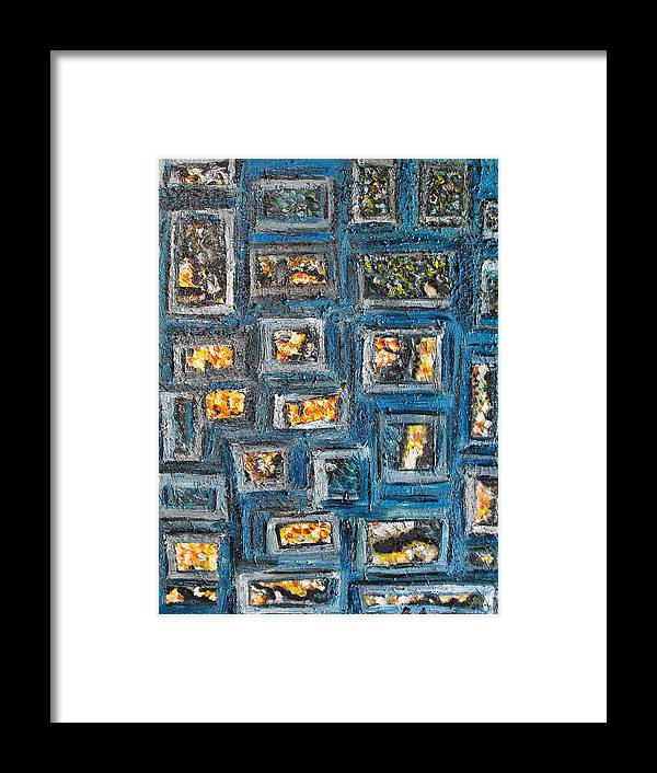 Spot Framed Print featuring the painting Patchwork by Agnes Roman