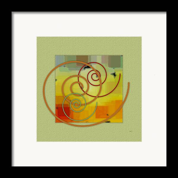 Abstract Framed Print featuring the digital art Patchwork I by Ben and Raisa Gertsberg