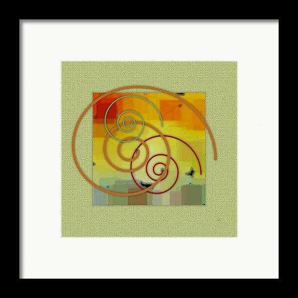 Abstract Framed Print featuring the digital art Patchwork II by Ben and Raisa Gertsberg