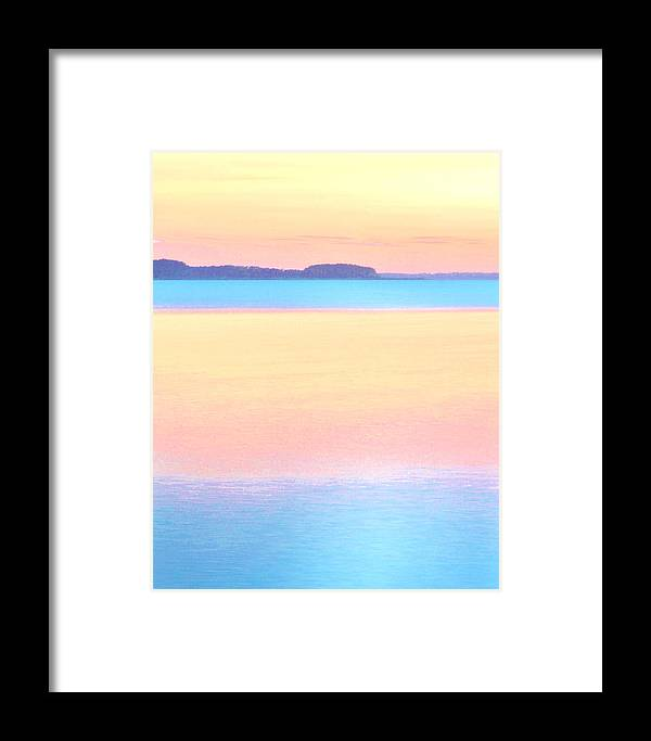 Beach Bum Pics Framed Print featuring the photograph Patel Bay - Colorful Pastel Sunset by William Bartholomew