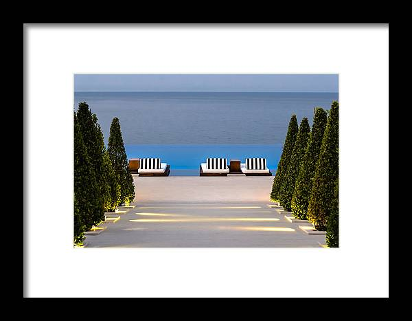 Swimming Pool Framed Print featuring the photograph Path Leading To Heaven by Sotiris Filippou