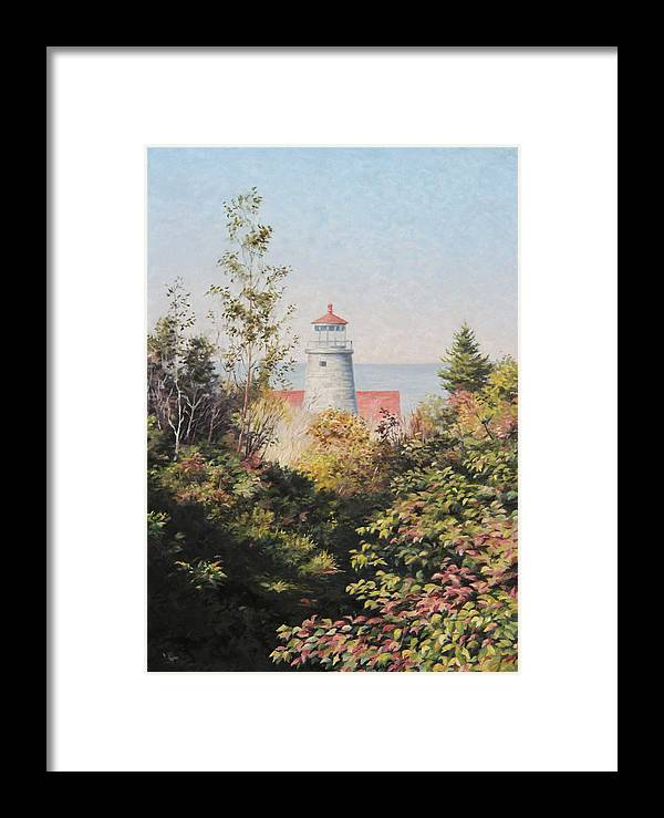 Landscape Framed Print featuring the painting Path To The Light by Will Kefauver