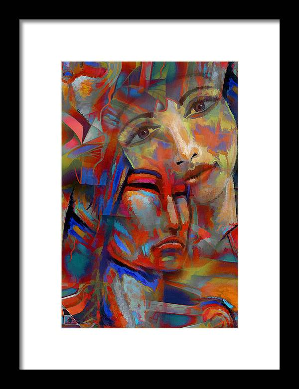 Digital Art Framed Print featuring the digital art Patricia's Empathy by Robert Maestas