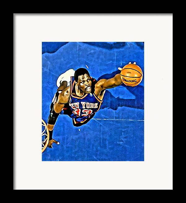 Patrick Ewing Framed Print featuring the painting Patrick Ewing by Florian Rodarte