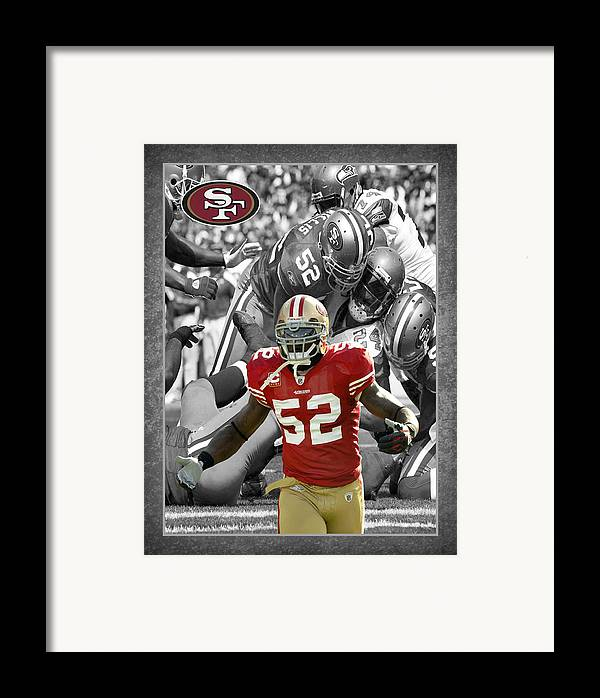 Patrick Willis Framed Print featuring the photograph Patrick Willis 49ers by Joe Hamilton
