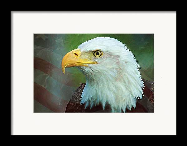 4th Framed Print featuring the digital art Patriot by Heidi Smith