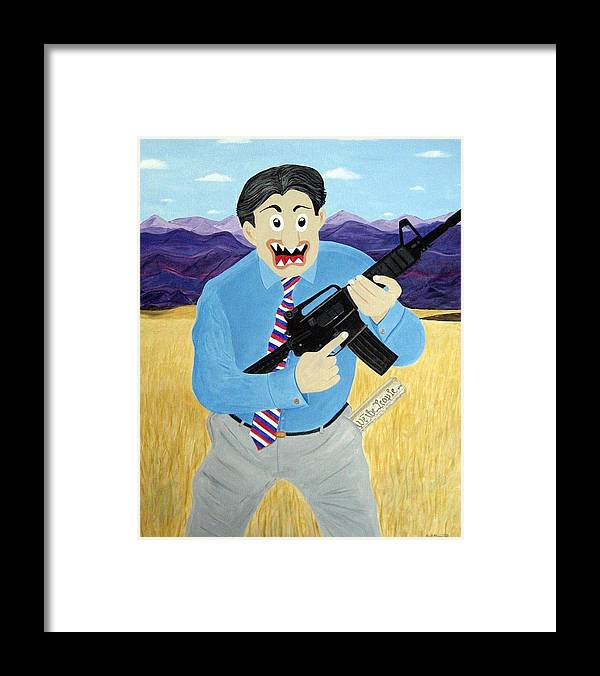 Patriot Framed Print featuring the painting Patriot by Sal Marino