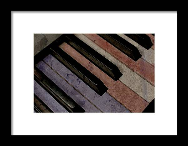 Music Framed Print featuring the photograph Patriotic Key by Photographic Arts And Design Studio