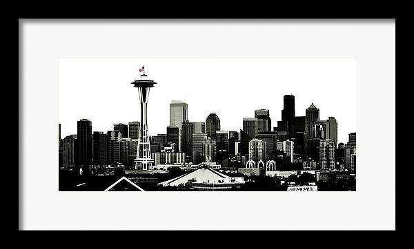Seattle Framed Print featuring the photograph Patriotic Seattle by Benjamin Yeager