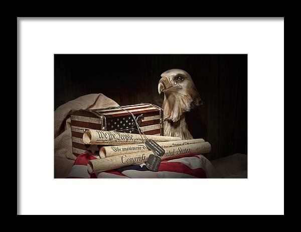 Eagle Framed Print featuring the photograph Patriotism by Tom Mc Nemar