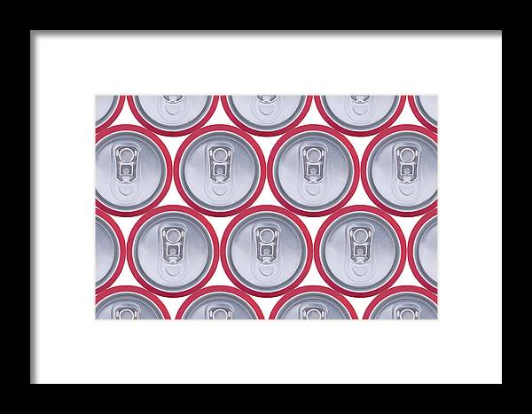 Cola Framed Print featuring the photograph Pattern Drink Cans by Oscar Hurtado