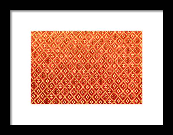 Abstract Framed Print featuring the photograph Pattern Of Cloth by Stephan Stockinger