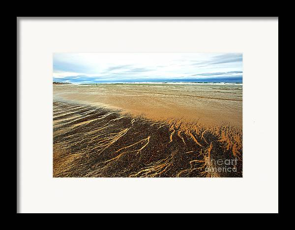 Agate Beach Oregon Framed Print featuring the photograph Patterns In The Tides by Artist and Photographer Laura Wrede