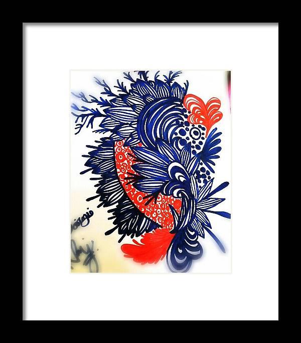 Patten Framed Print featuring the drawing Patterns by Kallai vani Ramani