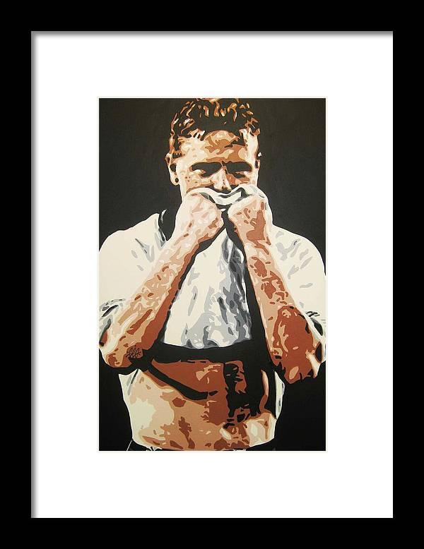 Paul Gascoigne Framed Print featuring the painting Paul Gascoigne - England by Geo Thomson