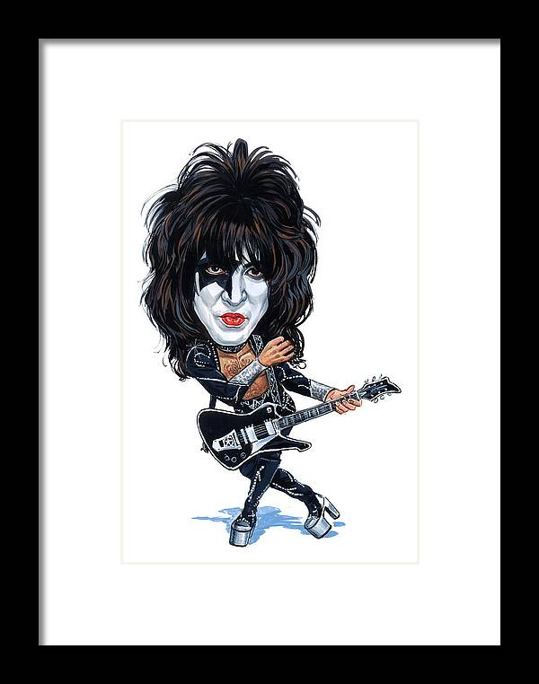 Paul Stanley Framed Print featuring the painting Paul Stanley by Art