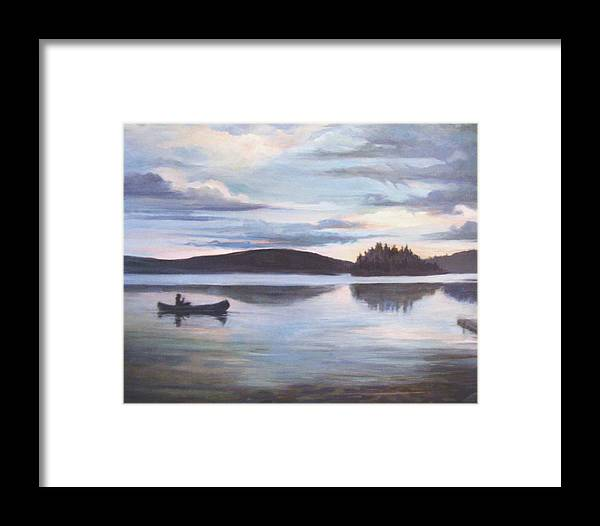 Nature Framed Print featuring the painting Payette Lake Idaho by Donna Tucker