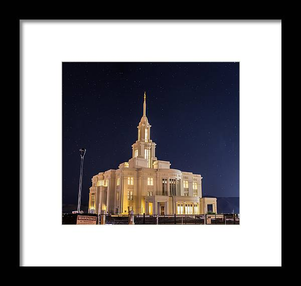 Payson Framed Print featuring the photograph Payson Utah Temple by David Hancock