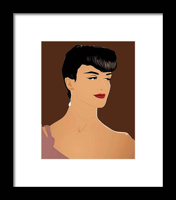 Attractive Framed Print featuring the digital art Paz Vega Elegant Model 4 by Prentice Morris