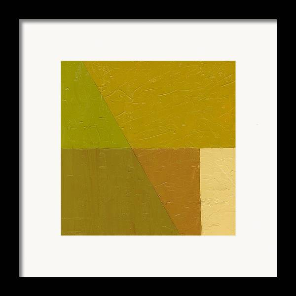 Abstract Framed Print featuring the painting Pea Soup And Cream by Michelle Calkins