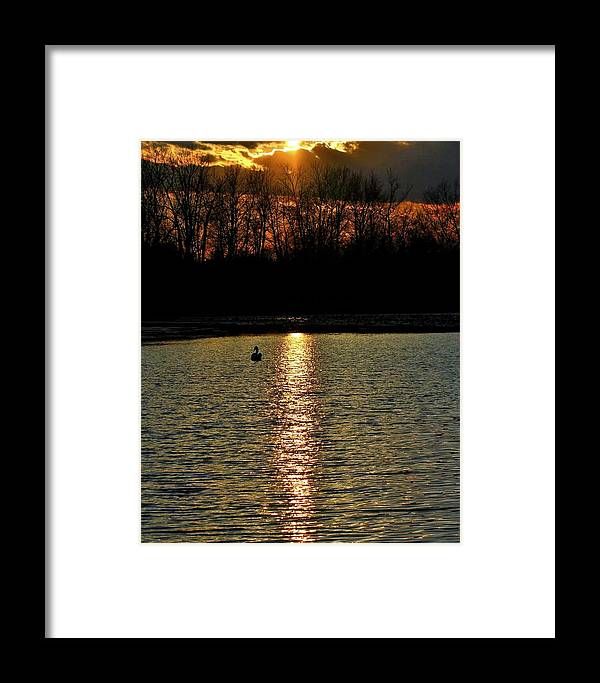 Sunset Framed Print featuring the photograph Peace 2 by Michael J Samuels