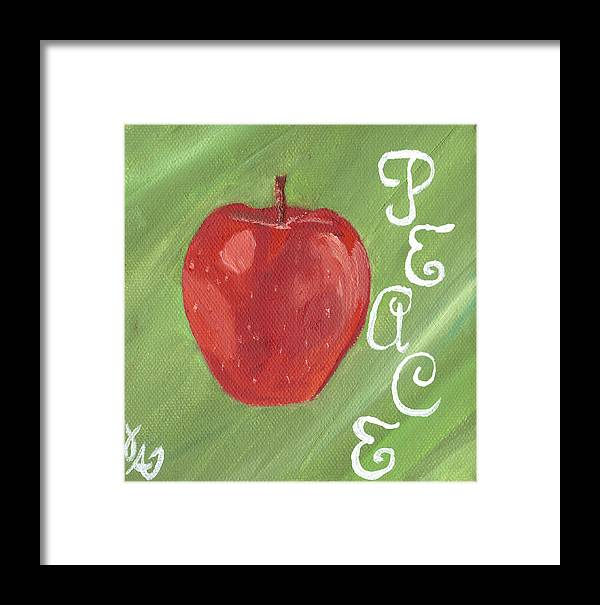 Fruit Framed Print featuring the painting Peace by Amber Joy Eifler