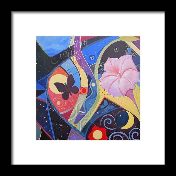 Peace Framed Print featuring the painting Peace And Flow by Helena Tiainen