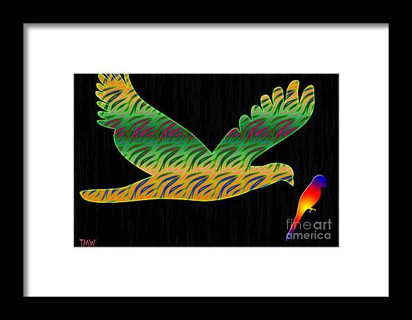 Tina Framed Print featuring the photograph Peace Birds by Tina M Wenger