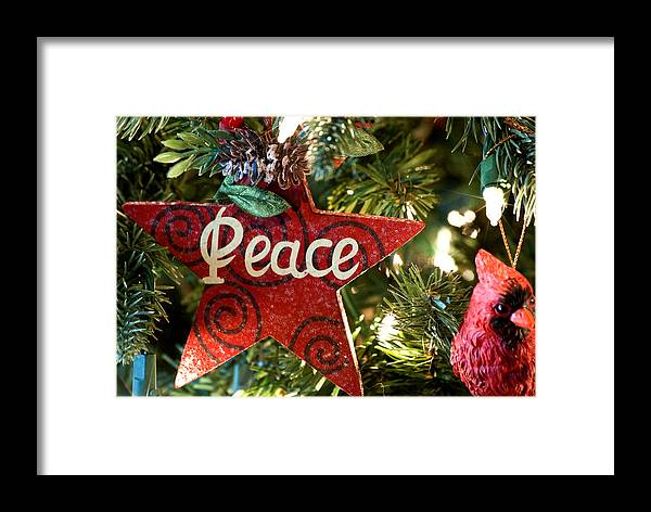 Christmas Framed Print featuring the photograph Peace by Don Durante Jr
