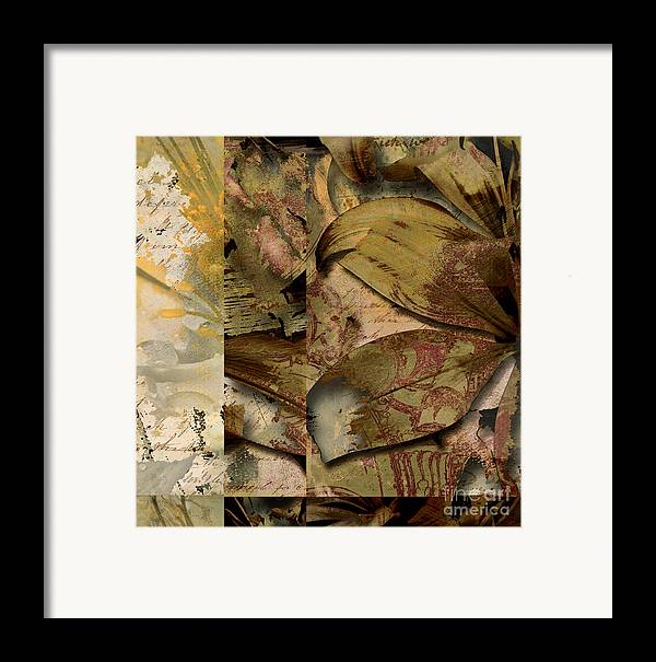 Framed Print featuring the mixed media Peace II by Yanni Theodorou