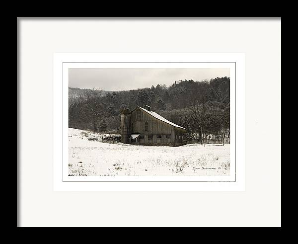 Tin Framed Print featuring the photograph Peace In The Valley by John Stephens