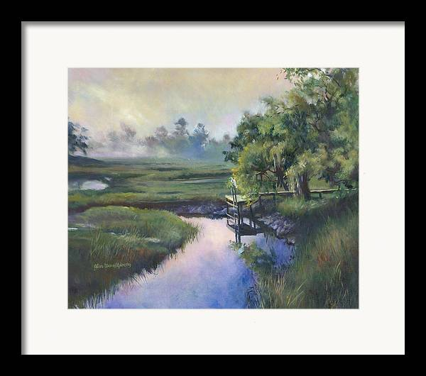 Charleston Framed Print featuring the painting Peace Like A River by Alice Grimsley