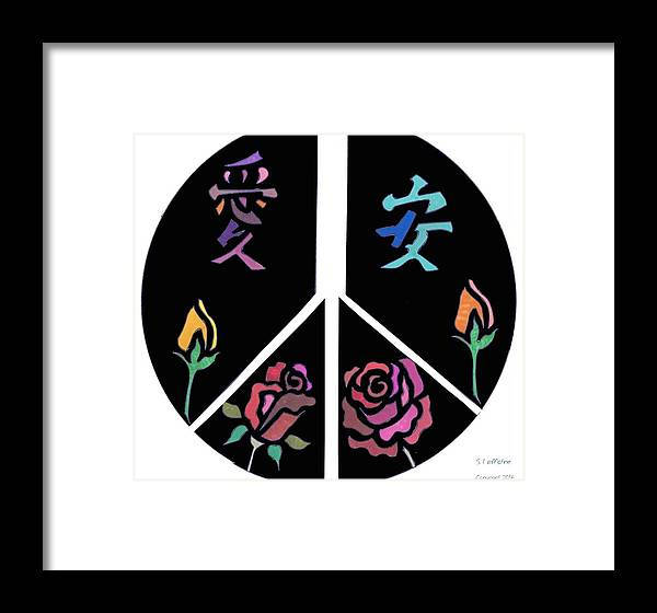 Peace Framed Print featuring the drawing Peace by Sara LaMothe